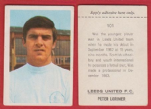 Leeds United Peter Lorimer Scotland 101